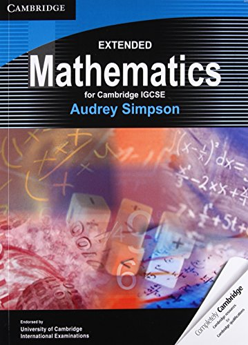 Extended Mathematics for Cambridge IGCSE: Audrey Simpson