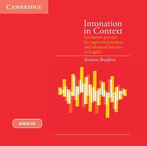 9780521187459: Intonation in Context Audio CD: Intonation Practice for Upper-intermediate and Advanced Learners of English