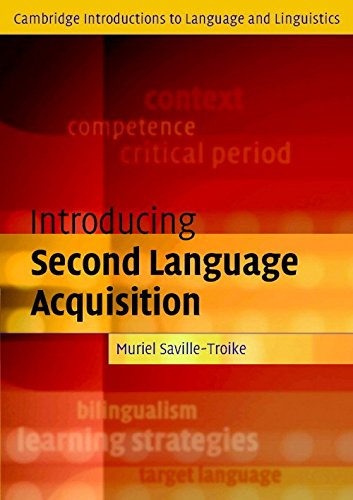9780521188449: Introducing Second Language Acquisition (Cambridge Introductions to Language and Linguistics)