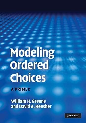 9780521194204: Modeling Ordered Choices Hardback