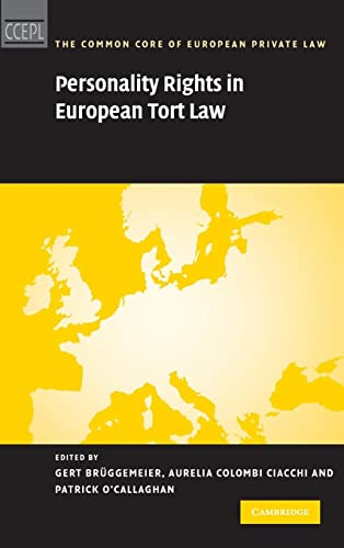 9780521194914: Personality Rights in European Tort Law (The Common Core of European Private Law)