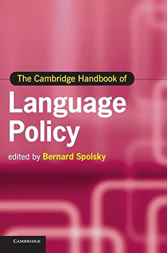 9780521195652: The Cambridge Handbook of Language Policy Hardback (Cambridge Handbooks in Language and Linguistics)