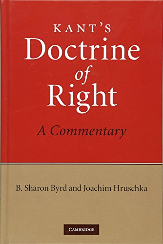 9780521196642: Kant's Doctrine of Right: A Commentary