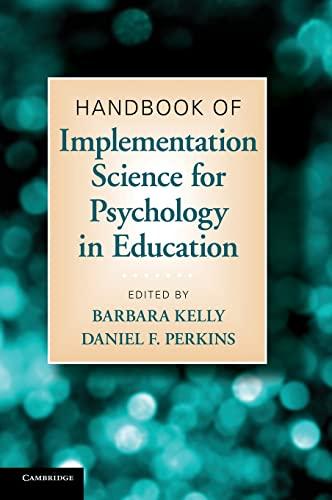 9780521197250: Handbook of Implementation Science for Psychology in Education Hardback