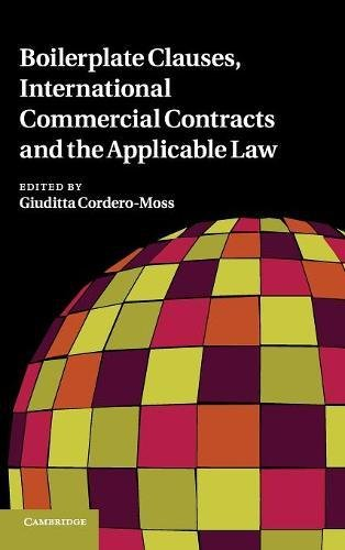 9780521197892: Boilerplate Clauses, International Commercial Contracts and the Applicable Law Hardback