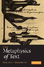 9780521197960: The Metaphysics of Text