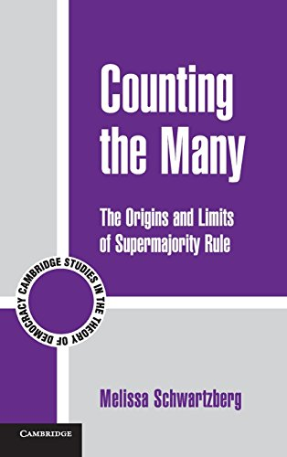 9780521198233: Counting the Many: The Origins and Limits of Supermajority Rule (Cambridge Studies in the Theory of Democracy)