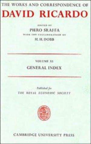 9780521200394: The Works and Correspondence of David Ricardo: Volume 11, General Index: 011