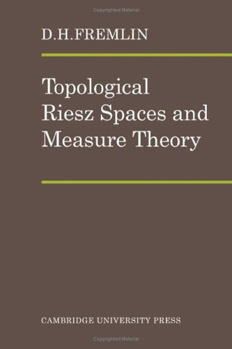 9780521201704: Topological Riesz Spaces and Measure Theory