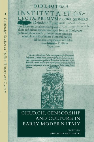 9780521202329: Church, Censorship and Culture in Early Modern Italy (Cambridge Studies in Italian History and Culture)