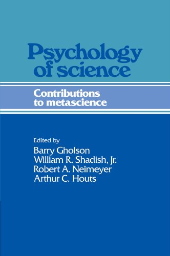 9780521203203: Psychology of Science: Contributions to Metascience