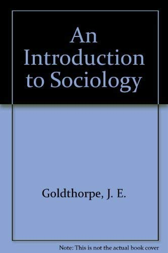 9780521203388: An Introduction to Sociology
