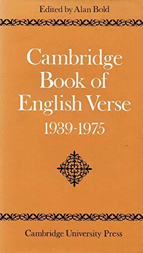 9780521203913: Cambridge Book of English Verse 1939-1975