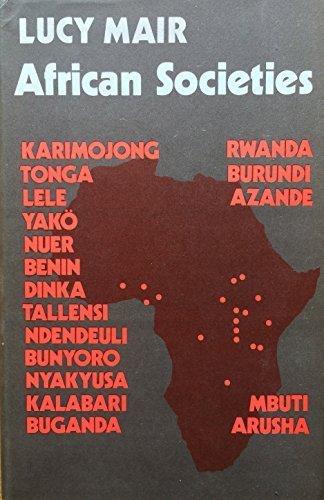 9780521204422: African Societies