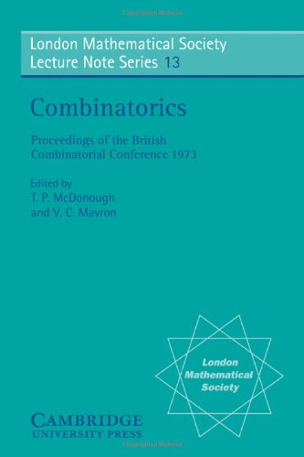 9780521204545: Combinatorics (London Mathematical Society Lecture Note Series)