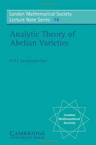 9780521205269: Analytic Theory of Abelian Varieties (London Mathematical Society Lecture Note Series)
