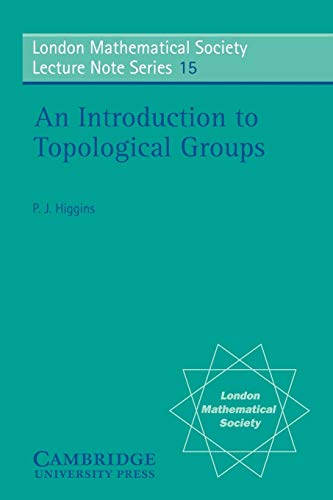 9780521205276: An Introduction to Topological Groups (London Mathematical Society Lecture Note Series)