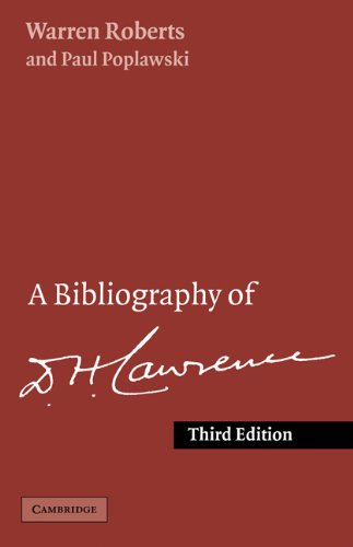 9780521206624: A Bibliography of D. H. Lawrence