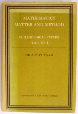 9780521206655: Mathematics, Matter and Method: Volume 1, Philosophical Papers
