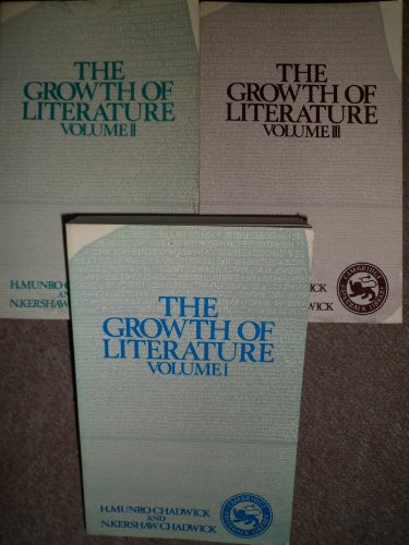 9780521208314: The Growth of Literature 3-Volume Set (Cambridge Paperback Library)