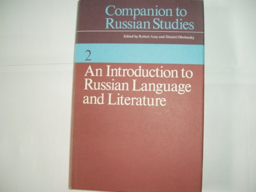 9780521208949: Companion to Russian Studies: Volume 2, An Introduction to Russian Language and Literature