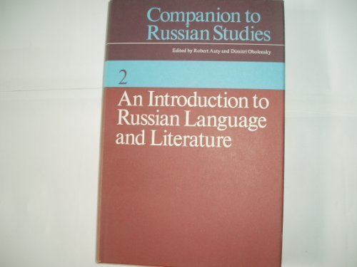 9780521208949: Companion to Russian Studies: Volume 2, An Introduction to Russian Language and Literature (v. 2)