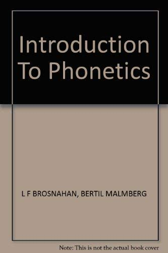 9780521211000: Introduction to Phonetics