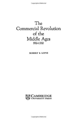 9780521211116: The Commercial Revolution of the Middle Ages, 950-1350