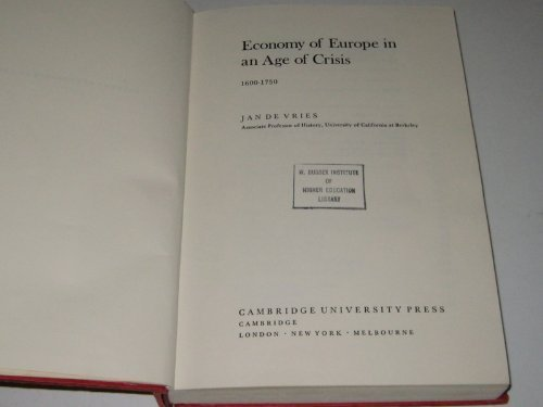 9780521211239: The Economy of Europe in an Age of Crisis, 1600-1750