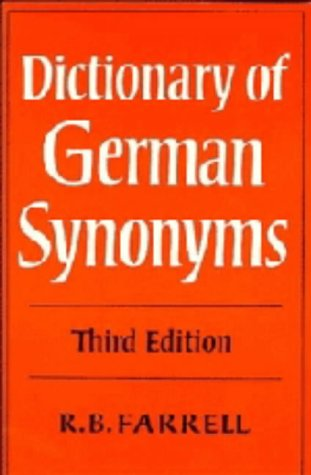 9780521211895: Dictionary of German Synonyms