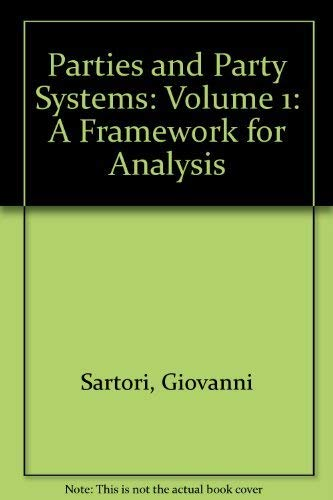 9780521212380: Parties and Party Systems: Volume 1: A Framework for Analysis: 001