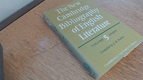 9780521213103: The New Cambridge Bibliography of English Literature: Volume 5, Index
