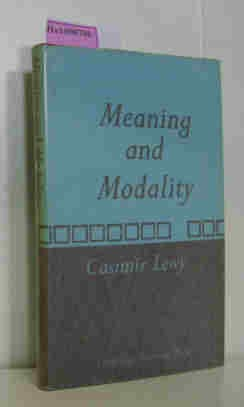 9780521213141: Meaning and Modality