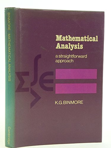 9780521214803: Mathematical Analysis