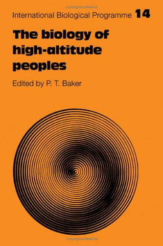 9780521215237: The Biology of High-Altitude Peoples