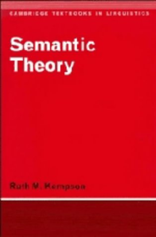 9780521216135: Semantic Theory (Cambridge Textbooks in Linguistics)