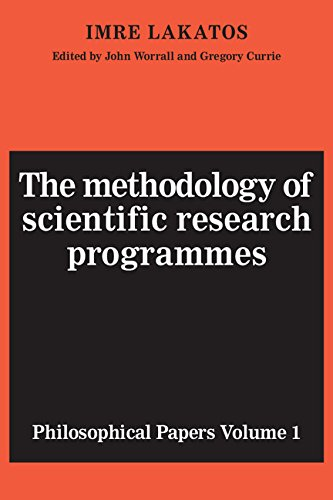 9780521216449: The Methodology of Scientific Research Programmes: Volume 1: Philosophical Papers: Methodology of Scientific Programmes v. 1