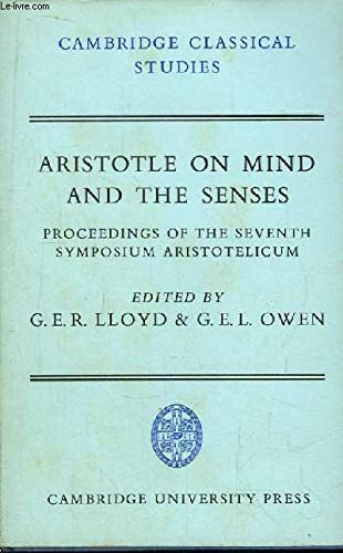 9780521216692: Aristotle on Mind and the Senses (Cambridge Classical Studies)