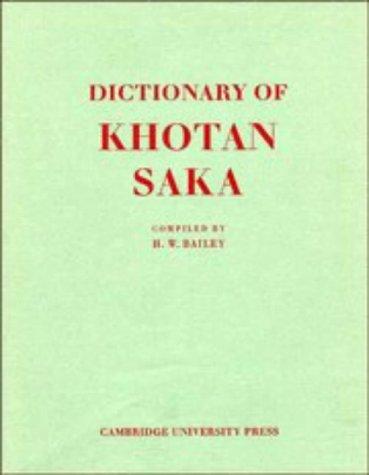 9780521217378: Dictionary of Khotan Saka