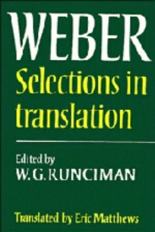 9780521217576: Max Weber: Selections in Translation