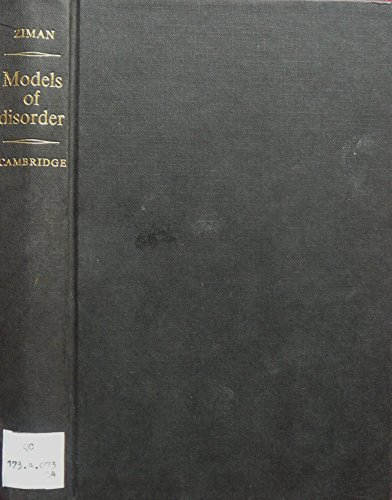 9780521217842: Models of Disorder: The Theoretical Physics of Homogeneously Disordered Systems