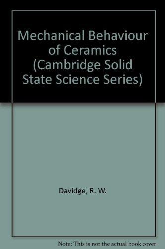 9780521219150: Mechanical Behaviour of Ceramics (Cambridge