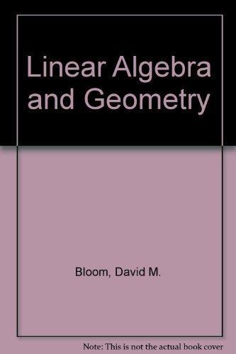 9780521219594: Linear Algebra and Geometry