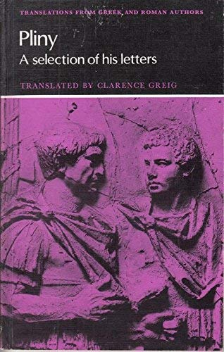 9780521219785: Pliny: A Selection of his Letters (Translations from Greek and Roman Authors)