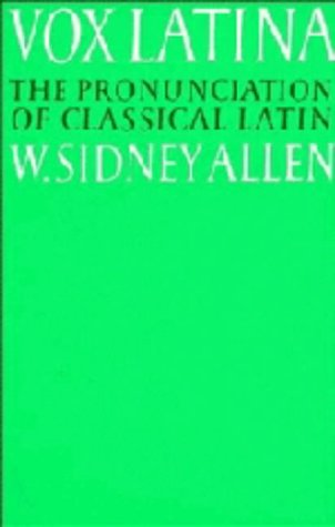 9780521220491: Vox Latina: A Guide to the Pronunciation of Classical Latin