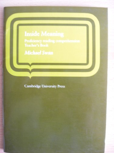 9780521221320: Inside Meaning Teacher's book: Proficiency Reading Comprehension