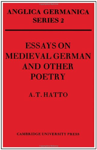 9780521221481: Essays on Medieval German and Other Poetry (Anglica Germanica Series 2)