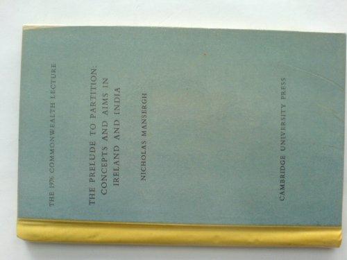 9780521221993: Prelude to Partiton India (The 1976 Commonwealth lecture)