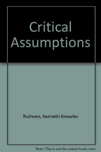 9780521222570: Critical Assumptions