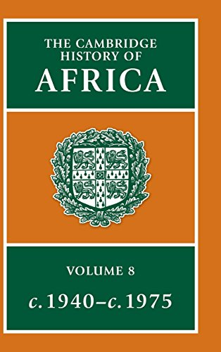 9780521224093: The Cambridge History of Africa (Volume 8)